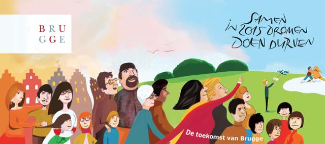 Nieuwjaarskaart toekomst van Brugge